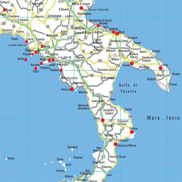 Cartina Geografica Centro Sud Italia | Tiesby Nelson